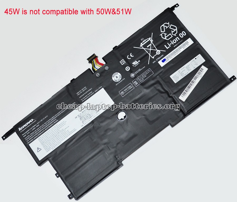 Lenovo Thinkpad x1 Carbon Gen 2 20a8 Battery Photo
