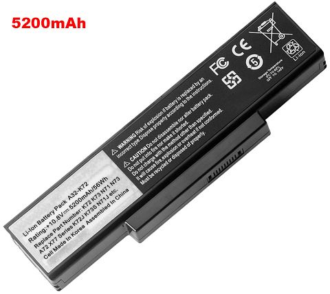 Asus k72jv Battery Photo